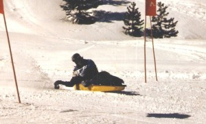 Mark Sit Skiing 1987